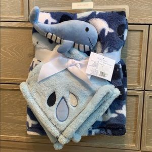 Baby Gear Whale Blanket Set